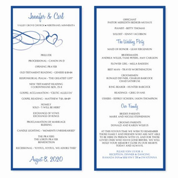 Wedding Program Template Free Word Beautiful Wedding Program Template Download Instantly by Karmakweddings