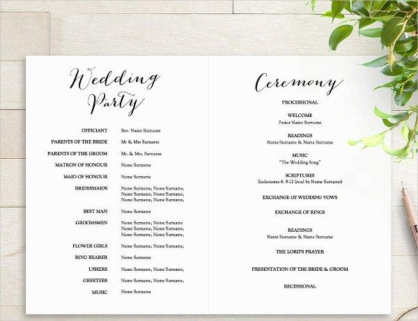 Wedding Program Template Free Word Elegant 25 Wedding Program Templates Free Psd Ai Eps format