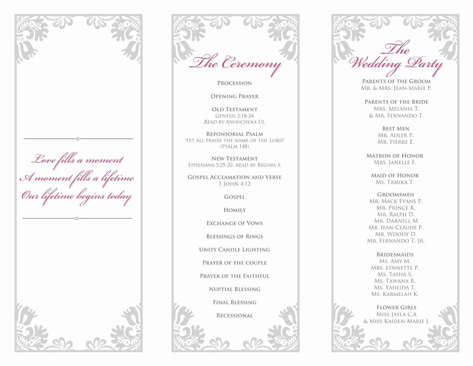 Wedding Program Template Free Word Elegant Inspirational Microsoft Word Wedding Program Templates
