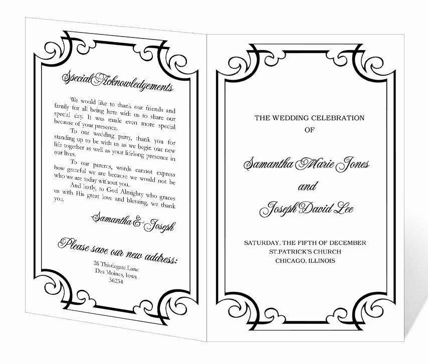 Wedding Program Template Free Word Fresh Wedding Program Template Word