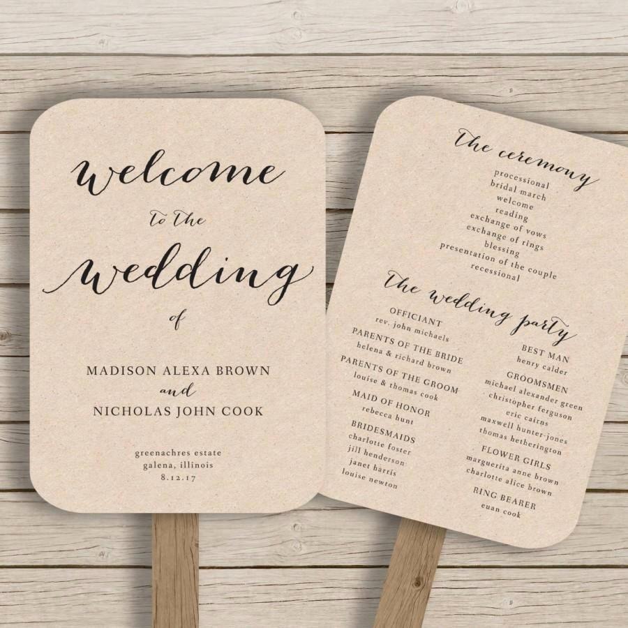 Wedding Program Template Free Word Inspirational Wedding Program Fan Template Printable Rustic Wedding