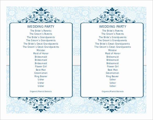 Wedding Program Template Free Word Inspirational Wedding Program Template 41 Free Word Pdf Psd
