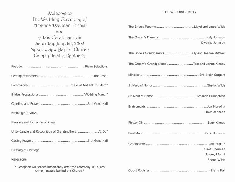 Wedding Program Template Free Word Inspirational Wedding Program Templates Wedding Programs Fast
