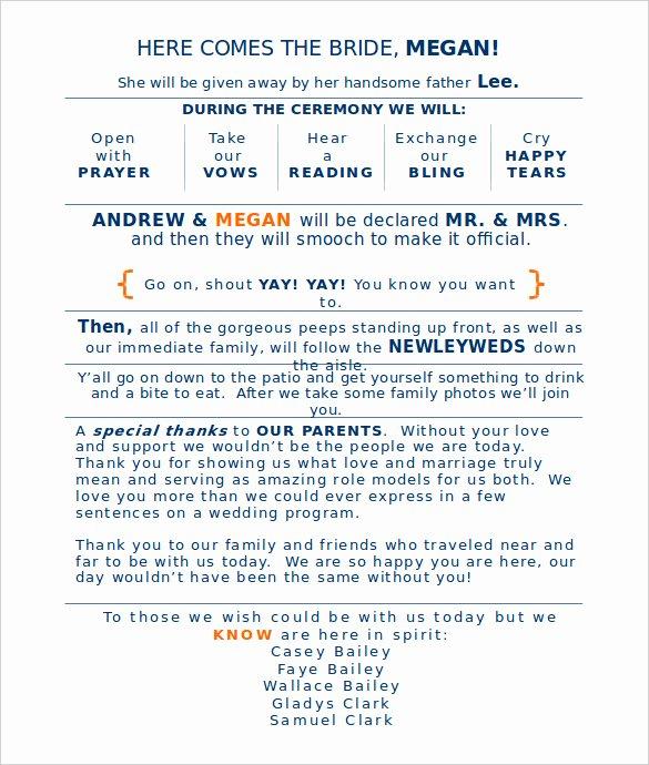 Wedding Program Template Free Word Lovely Wedding Program Template 41 Free Word Pdf Psd