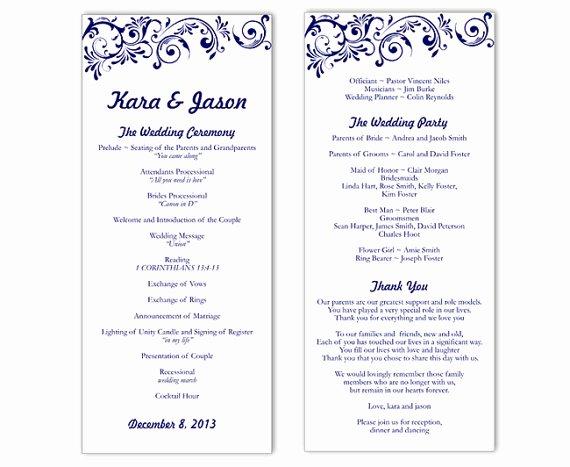 Wedding Program Template Free Word Lovely Wedding Program Template Word