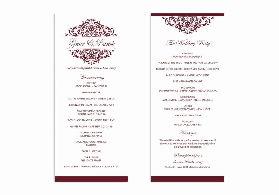 Wedding Program Template Free Word Luxury Microsoft Word Program Template Wedding Program Template