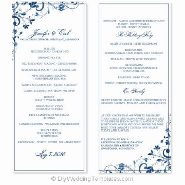 Wedding Program Template Free Word Luxury Wedding Program Template Instant Download Edit