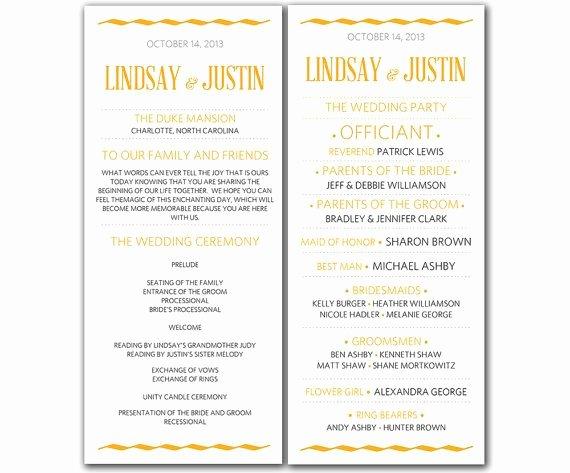 Wedding Program Template Free Word Luxury Wedding Program Template Word