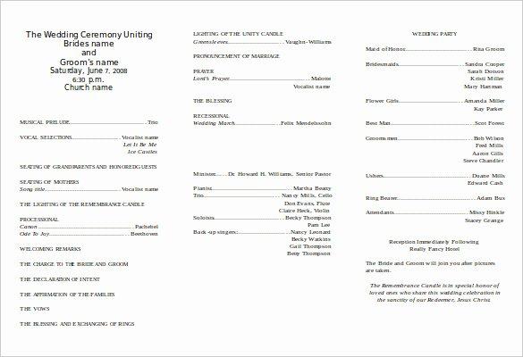 Wedding Program Template Free Word New 8 Word Wedding Program Templates Free Download
