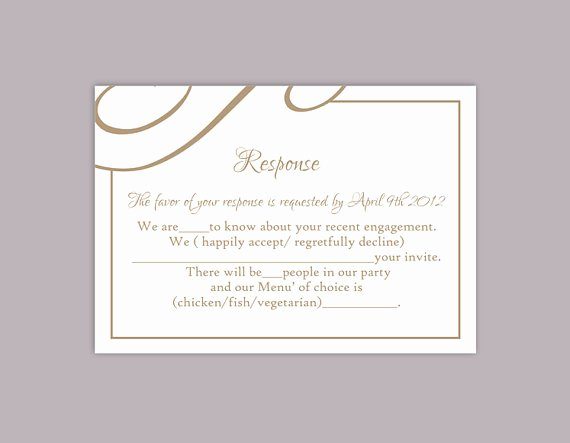 Wedding Rsvp Cards Template Awesome Diy Wedding Rsvp Template Editable Text Word File Download