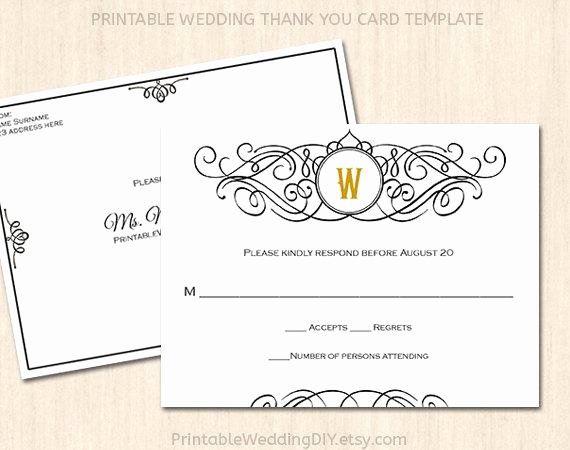 Wedding Rsvp Cards Template Awesome Printable Wedding Rsvp Postcard Template Editable Wedding