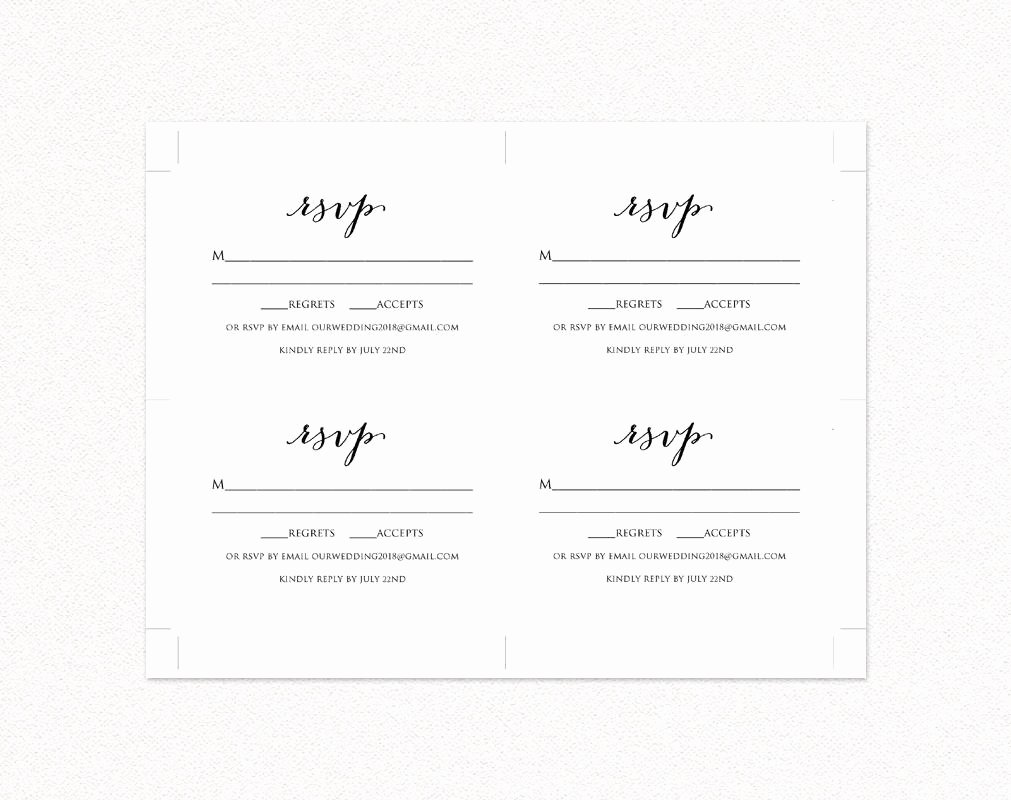 Wedding Rsvp Cards Template Awesome Wedding Rsvp Card Template Diy Wedding Templates and