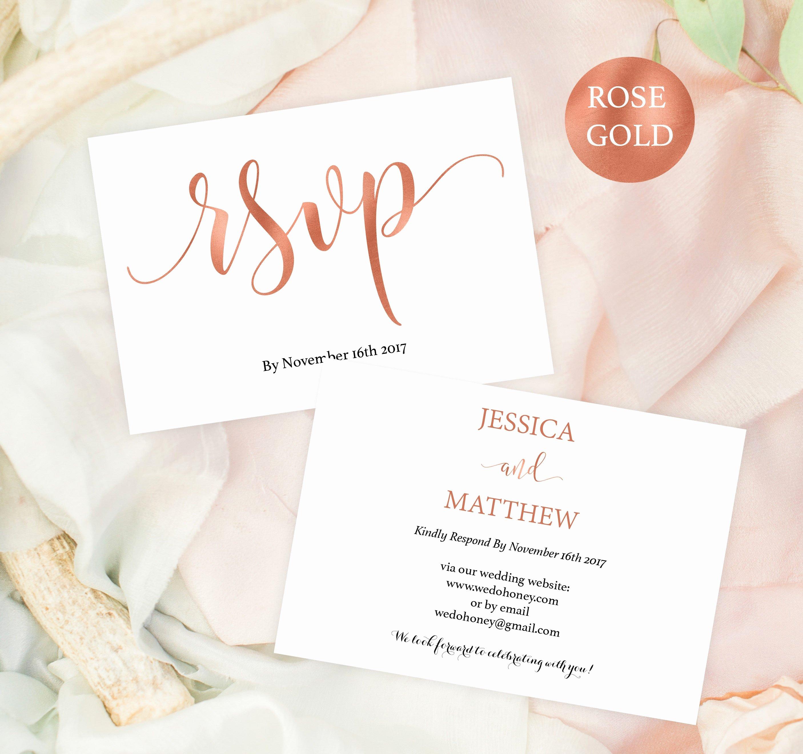Wedding Rsvp Cards Template Beautiful Wedding Rsvp Postcard Rsvp Template Rsvp Online Rose