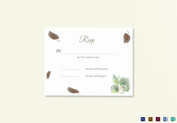 Wedding Rsvp Cards Template Elegant 18 Wedding Rsvp Card Templates Editable Psd Ai Eps