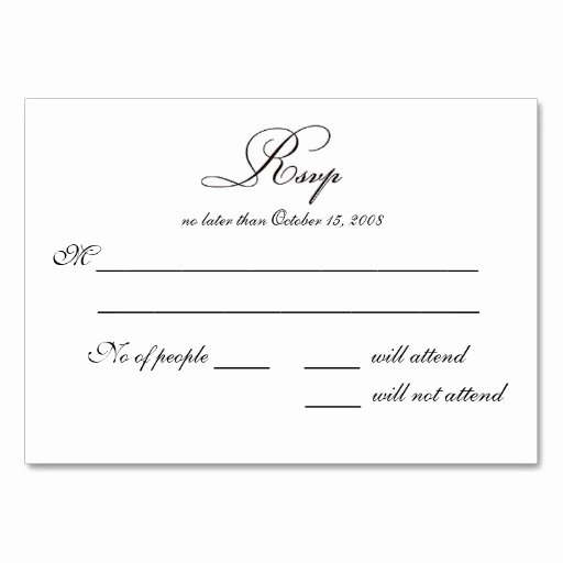 Wedding Rsvp Cards Template Elegant 7 Best Of Rsvp Postcard Template Wedding Rsvp