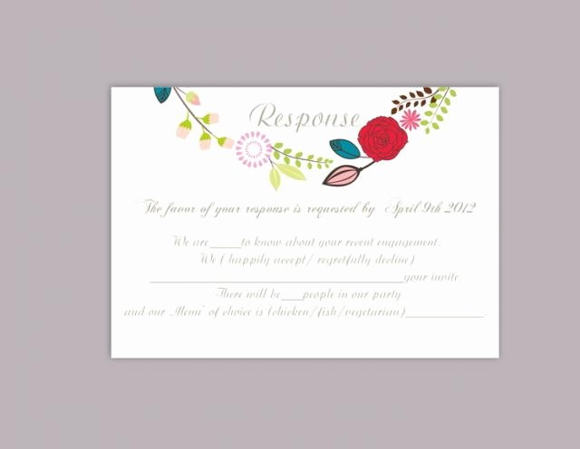 Wedding Rsvp Cards Template Elegant Diy Wedding Rsvp Template Editable Word File Download Rsvp