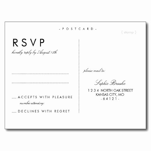Wedding Rsvp Cards Template Elegant Postcard Design Gallery Category Page 4 Designtos
