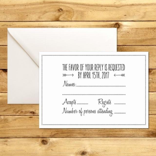 Wedding Rsvp Cards Template Lovely Printable Wedding Rsvp Response Card Template Dark
