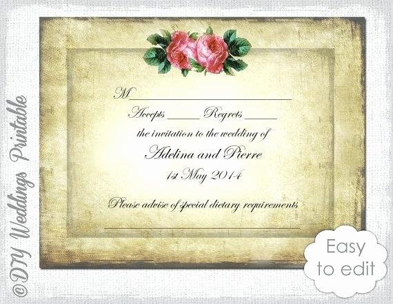 Wedding Rsvp Cards Template Lovely Wedding Template Download Vintage Valentine Heart