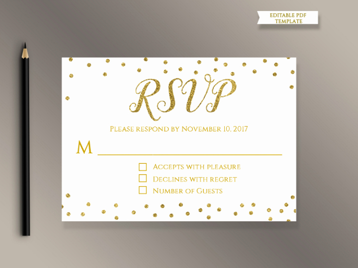 Wedding Rsvp Cards Template New 18 Wedding Rsvp Card Templates Editable Psd Ai Eps