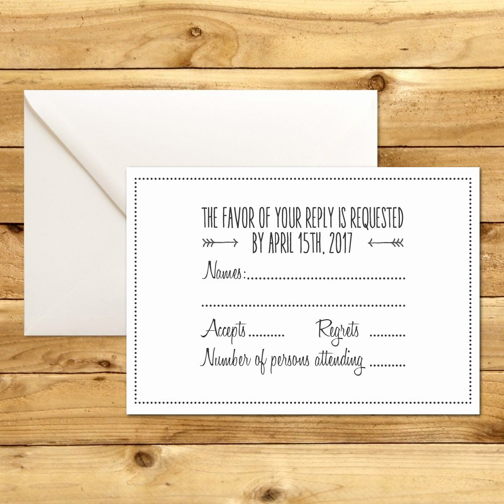 Wedding Rsvp Cards Template New Rsvp Diy Wedding Template Rsvp Template Rustic Wedding