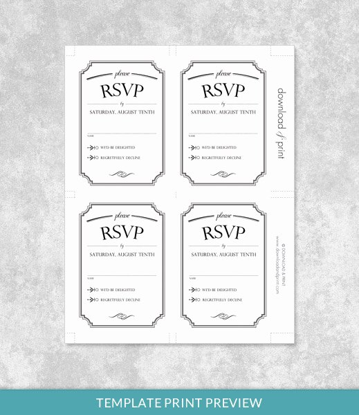 Wedding Rsvp Cards Template Unique Vintage Type Wedding Invitation Bundle – Download & Print