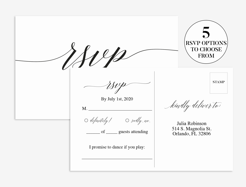 Wedding Rsvp Cards Template Unique Wedding Rsvp Card Wedding Rsvp Template