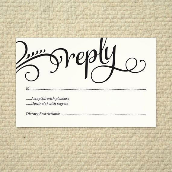 Wedding Rsvp Cards Template Unique Wedding Rsvp Love and Cherish Script Diy Printable