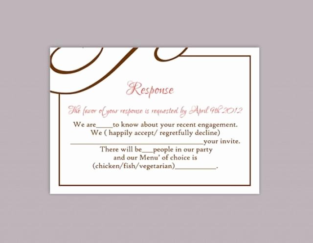 Wedding Rsvp Postcard Template Beautiful Diy Wedding Rsvp Template Editable Text Word File Download