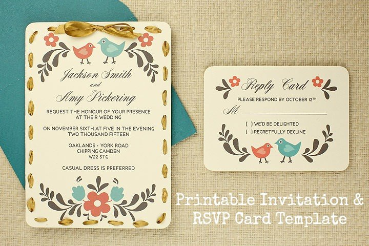 Wedding Rsvp Postcard Template Best Of Diy Tutorial Free Printable Invitation and Rsvp Card