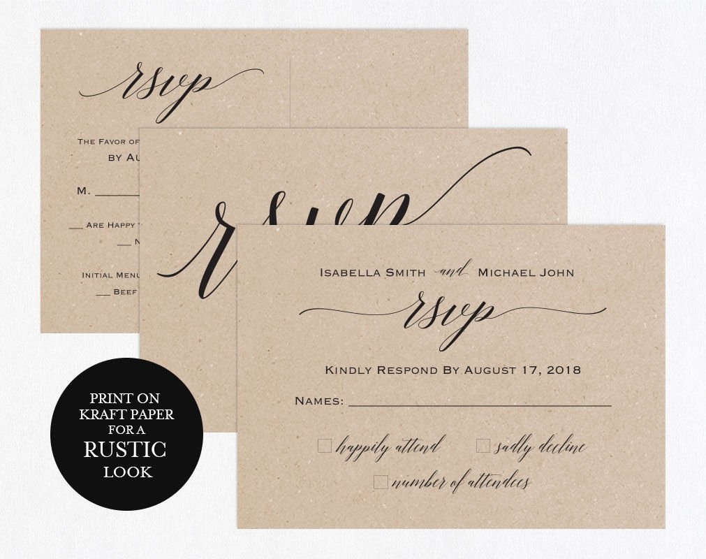 Wedding Rsvp Postcard Template Elegant Rsvp Postcards Templates Wedding Rsvp Cards Rsvp Online