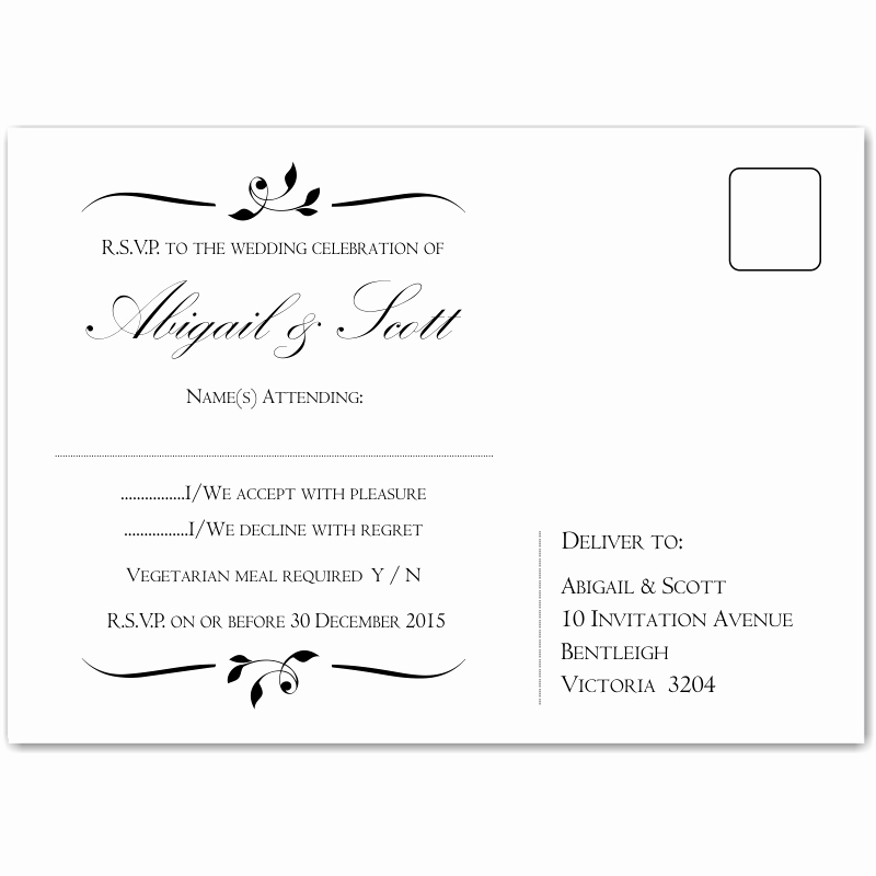 Wedding Rsvp Postcard Template Lovely Bud Wedding Invitationsrsvp Calista