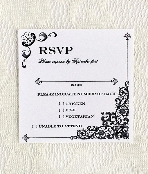 Wedding Rsvp Postcard Template Lovely Vintage Iron & Lace Square Rsvp Template