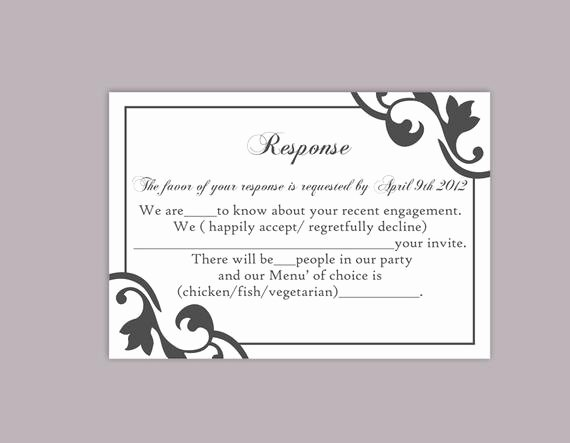 Wedding Rsvp Postcard Template New Diy Wedding Rsvp Template Editable Text Word File Instant
