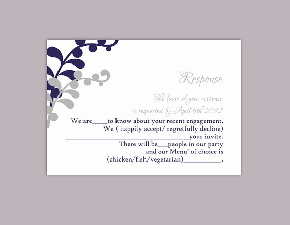 Wedding Rsvp Postcard Template Unique Diy Wedding Rsvp Template Editable Text Word File Download