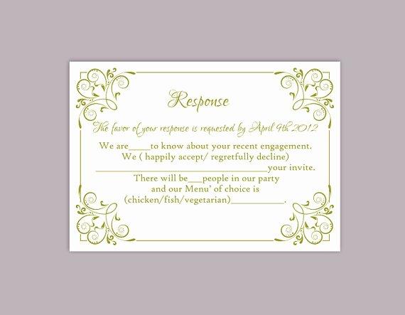 Wedding Rsvp Postcards Template Beautiful Diy Wedding Rsvp Template Editable Text Word File Download
