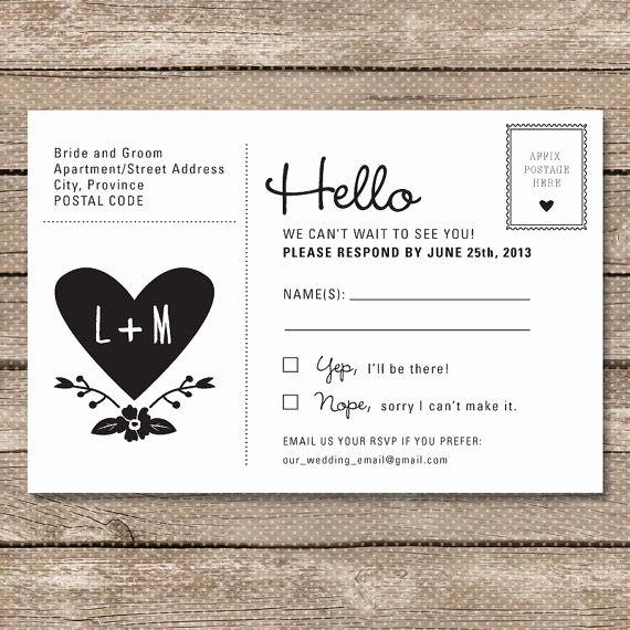 Wedding Rsvp Postcards Template Beautiful Postcard Rsvp Maybe Cheaper Than Including An Envelope