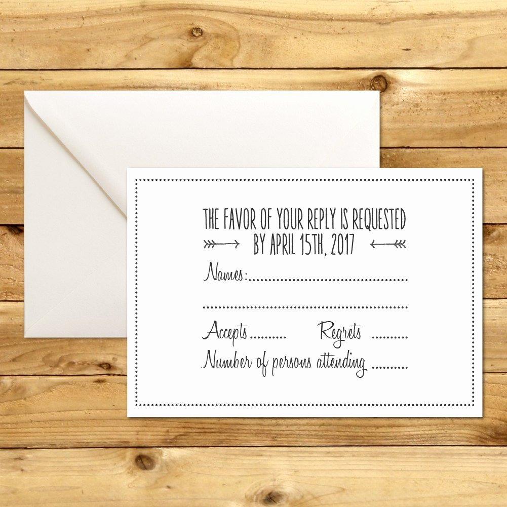 Wedding Rsvp Postcards Template Best Of Rsvp Diy Wedding Template Rsvp Template Rustic Wedding