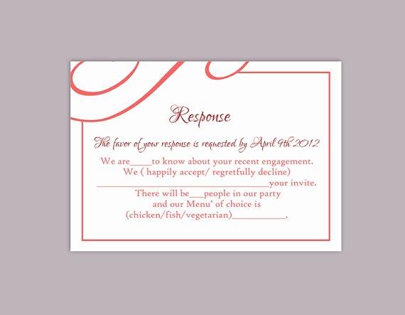 Wedding Rsvp Postcards Template Elegant Diy Wedding Rsvp Template Editable Text Word File Download