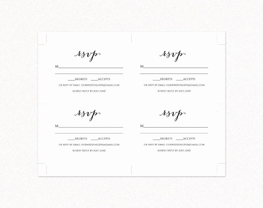 Wedding Rsvp Postcards Template Inspirational Wedding Rsvp Card Template Diy Wedding Templates and