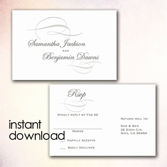 Wedding Rsvp Postcards Template Lovely Unavailable Listing On Etsy