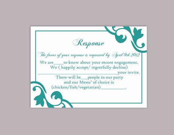 Wedding Rsvp Postcards Template Unique Diy Wedding Rsvp Template Editable Word File Instant