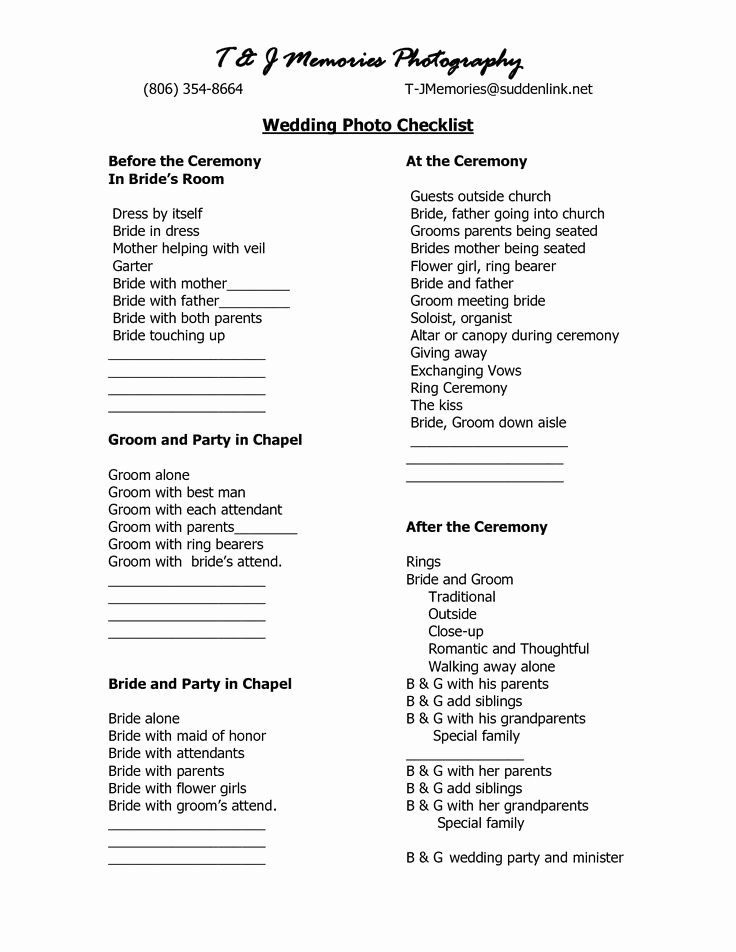 Wedding Shot List Template Beautiful 1000 Ideas About Wedding Graphy Checklist On