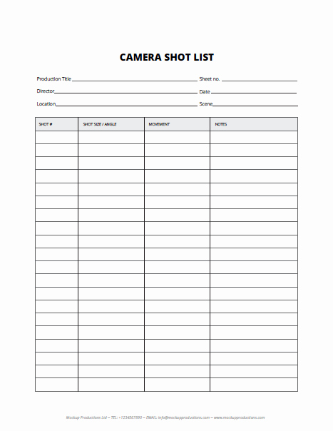 Wedding Shot List Template Elegant Vip Downloads List