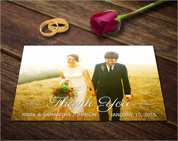 Wedding Thank You Card Template Awesome 21 Wedding Thank You Cards – Free Printable Psd Eps