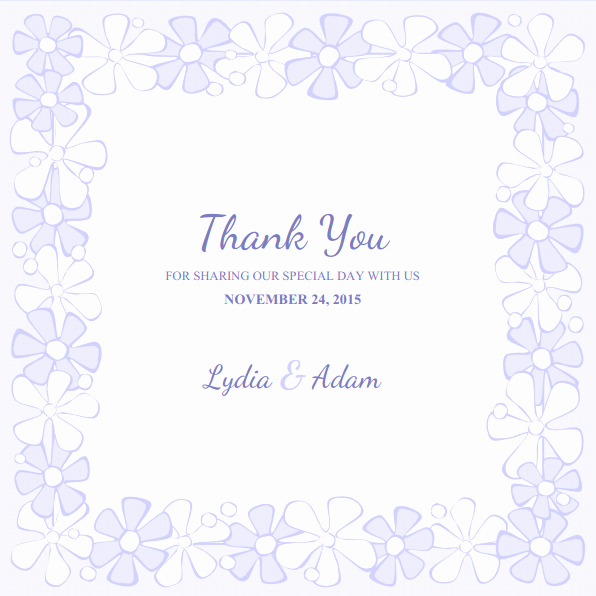 Wedding Thank You Card Template Awesome Wedding Thank You Cards Archives Superdazzle Custom