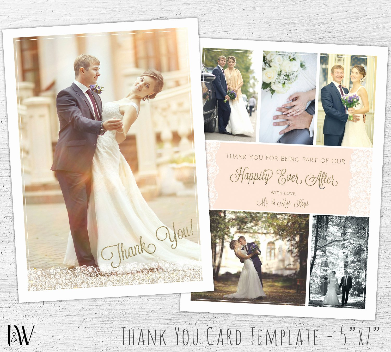 Wedding Thank You Card Template Awesome Wedding Thank You Template Card Template Wedding Thank