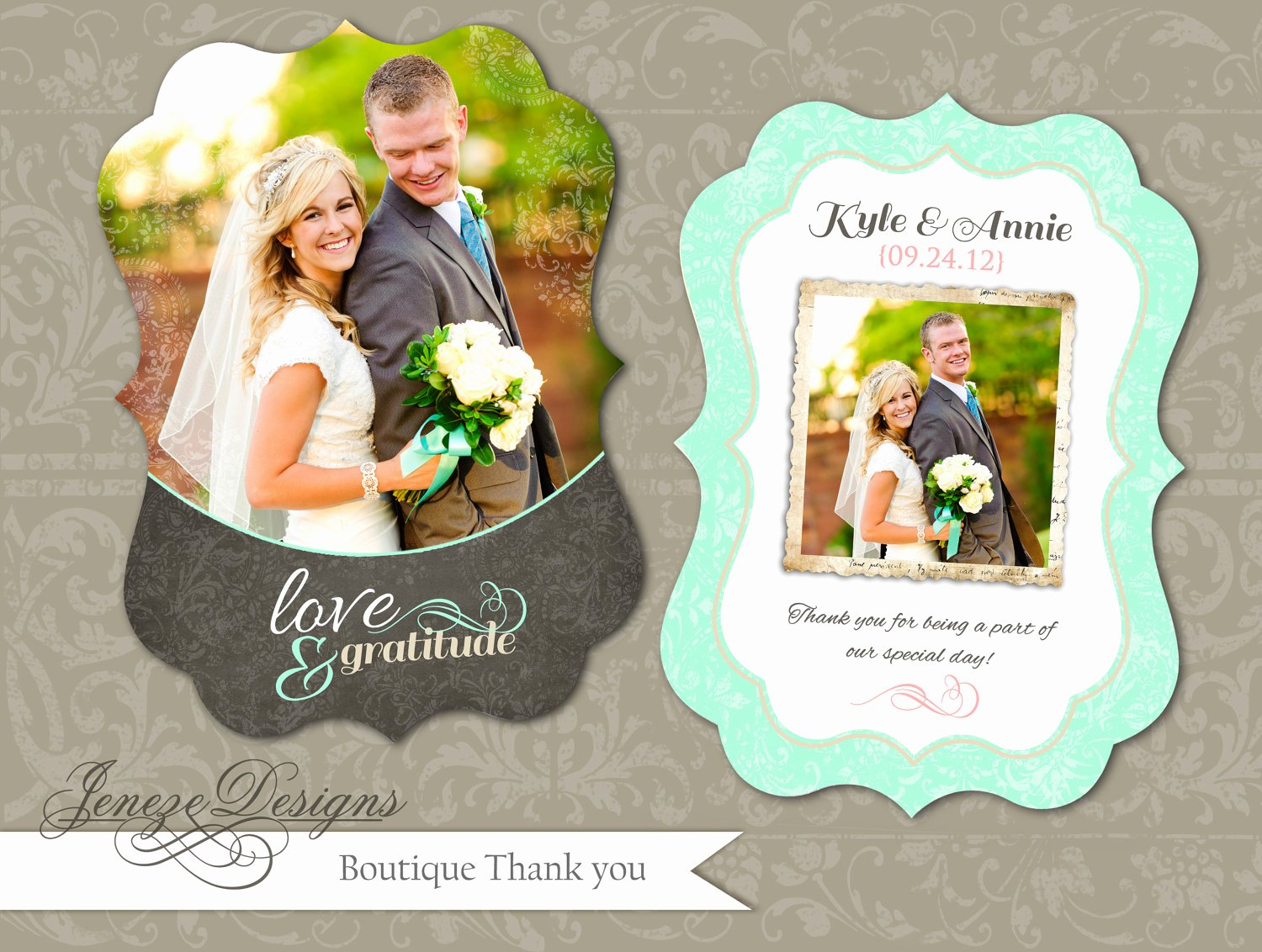 Wedding Thank You Card Template Beautiful Luxe Wedding Thank You Card Template Instant Download Item