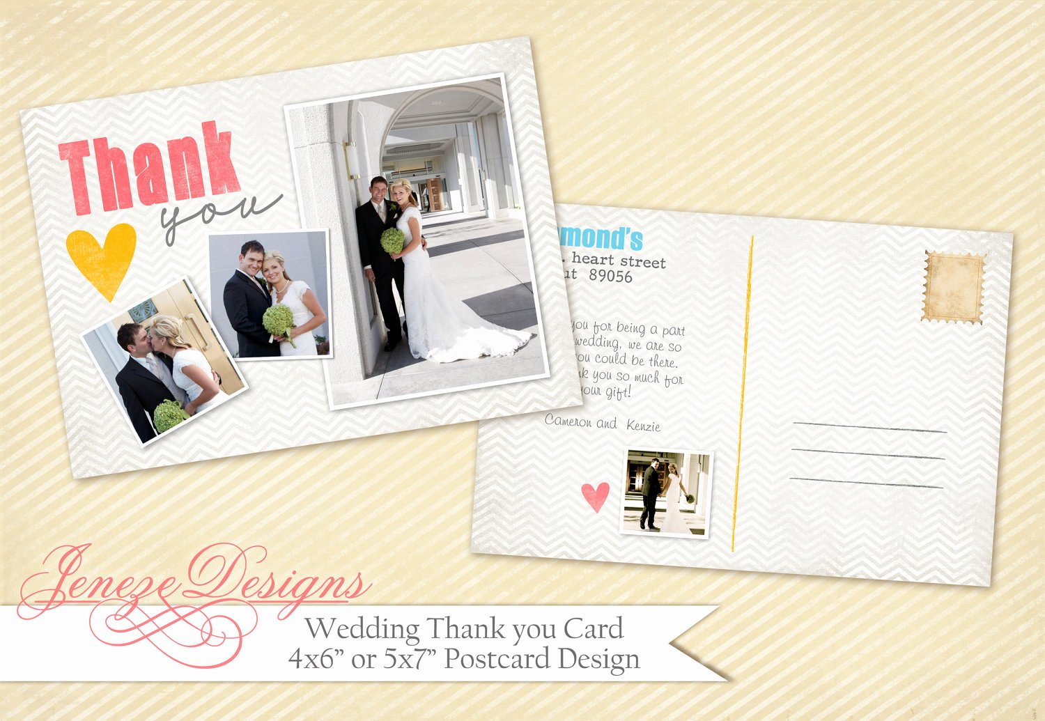 Wedding Thank You Card Template Beautiful Wedding Thank You Card Shop Template Item Tc006 by Jeneze
