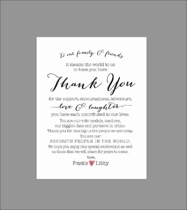 Wedding Thank You Card Template Fresh 70 Thank You Card Designs